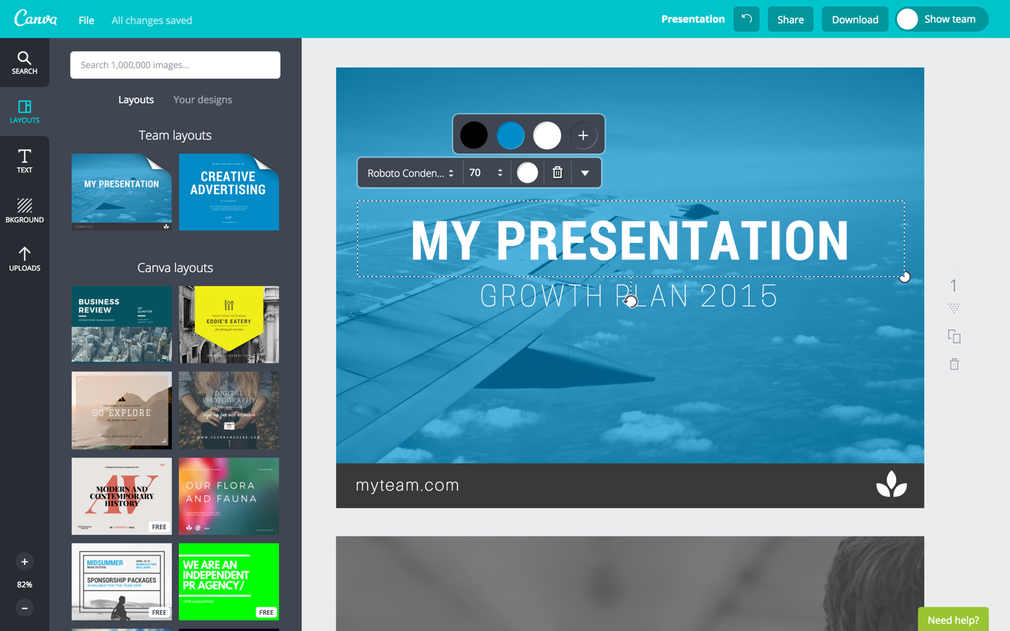 canva pro free account