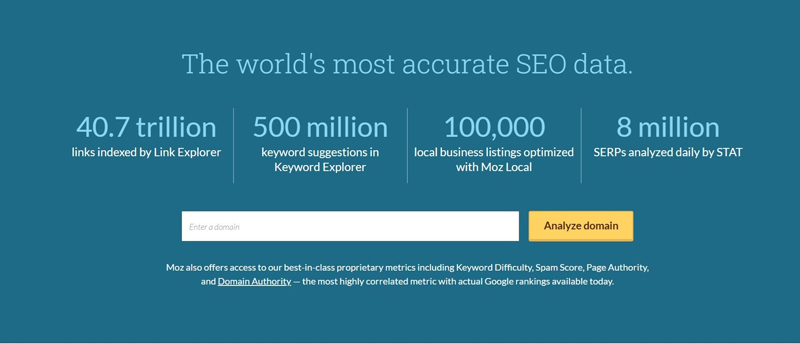 moz pro optimise site tools
